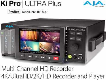 AJA Ki Pro Ultra PLUS {Multi-Channel 4K-UltraHD 2K-HD Recorder}