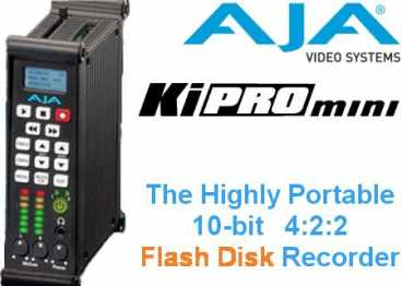 AJA KiPRO mini {HDMI/ SD/HD-SDI ProRes 422 Flash Disk Recorder}