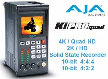 AJA Ki Pro Quad {HD/SD-SDI RAW 4K Quad HD 4:4:4 Solid Disk Rec.}