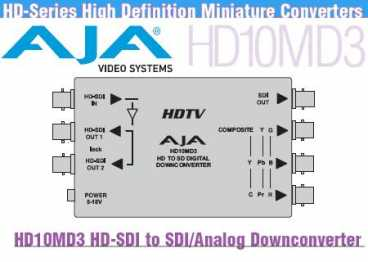 AJA HD10MD3 (Down Converter HD 10 MD 3 / HD-SDI to SDI/Analog)