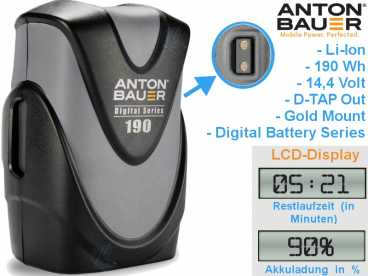 GOLD-Mount Anton Bauer Digital G190 Li-Ion Akku 14,4V | 194 Wh