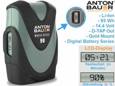 GOLD-Mount Anton Bauer Digital  G90 Li-Ion Akku 14,4V | 93 Wh