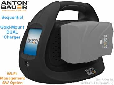 GOLD-Mount Anton Bauer Performance sequent. DUAL Charger {LCD}