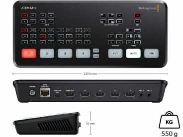 BlackMagic ATEM Mini - Full-HD HDMI Web Streaming Videomischer