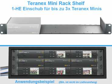 BlackMagic Teranex Mini Rack Shelf {1-HE Rackwanne}