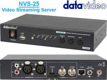 DataVideo NVS-25 SDI HDMI H.264 Broadcast Video Streaming Server und USB Recorder