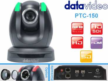 DataVideo PTC-150 Full-HD PTZ DOME Kamera {HD-SDI|HDMI|Cvbs OUT}