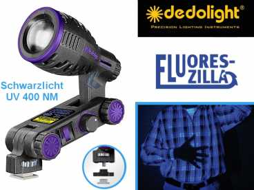 DedoLight Schwarzlicht UV 400NM FLUORESZILLA HighPower LED Licht