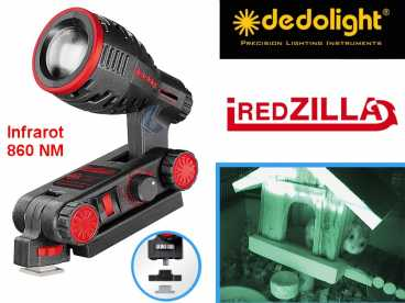DedoLight INFRAROT 860NM iREDZILLA high-power mini LED Kopflicht