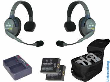 EARTEC ULTRALITE 2-S HD {UL2S-HD} digital DECT Intercom Headset