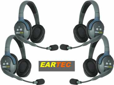 EARTEC ULTRALITE 4-D {UL4D} digital DECT Intercom Headset