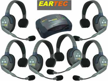 EARTEC ULTRALITE 6-S {HUB6S} digital DECT drahtloses Intercom Headset mit Mini-Base bis 600m
