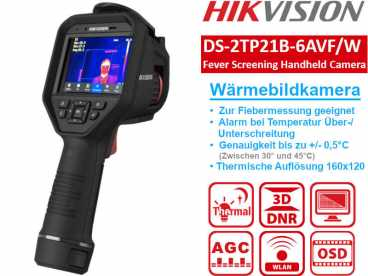 HikVision DS-2TP21B-6AVF/W Wärmebildkamera 8MP thermal 160x120 - Touchdisplay LCD 640x480