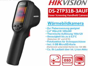 "HikVision DS-2TP31B-3AUF  Wärmebildkamera 8MP thermal 160x120 -  LCD 2,4"" Display 320x240"