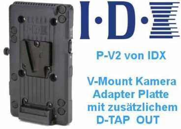 V Mount IDX P-V 2 ENDURA Adapterplatte P-V2 mit D-Tap OUT