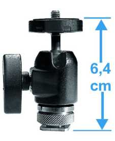 Manfrotto Kugelkopf 492 LCD Micro m.Kameraschuh/Ball Head T-Shoe