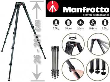 Manfrotto MA 536 Karbon MPRO VIDEO STATIV {4 Semente | 75/100mm Halbschale}