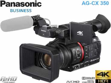 Panasonic AG-CX350 4K HDR H.265 Live-Streaming microP2HD-SDHC 32x Zoom