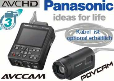 Panasonic AG-HMR 10 + AG-HCK 10 Full HD AVCHD mini Recorder SET