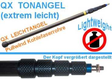Tonangel QUICKPOLE light QXS- 580 mittelgross - Carbon 80-330cm 620g