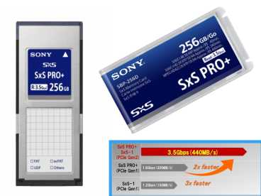 SBP-256 E SONY 3,5GB|s SxS PRO+™ Express Card {256 GB | XDCAM-EX}