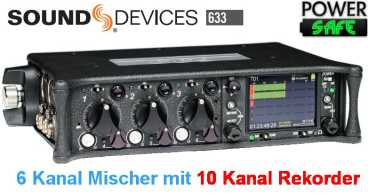 Sound Devices SD 633 - 6 Kanal EB Mischer TimeCode 10 Spur Recorder auf SDHC