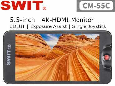 "5,5"" SWIT CM-55C FullHD 4k HDMI IPS LCD Monitor 1920x1080 mit Focus Assist"