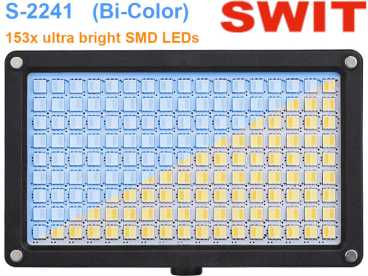 LED Kopflicht Bi-Color 153 DUO ultra bright SMD SWIT S-2241 - 20 Watt 3200-5600°K