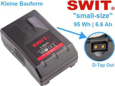 V-Mount SWIT S-8082S small-size Li-Ion Akku 95Wh 14,4V 6,6A mit D-Tap Out