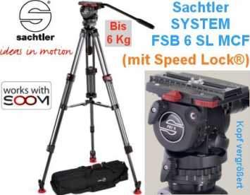 Sachtler System FSB 6 SL MCF 1-6 kg +Speed Lock +Mittelsp. +Bag