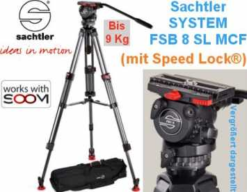 Sachtler System FSB 8 SL MCF 1-9 kg  +Speed Lock +Mittelsp. +Bag