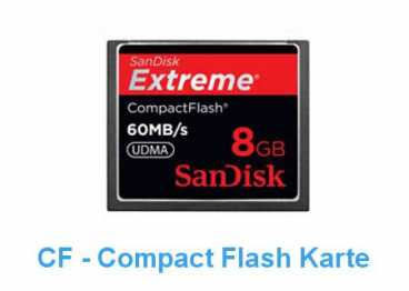 SanDisk CF   8 GB (60MB/s) EXTREME Compact Flash / 400x R/W)