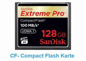 SanDisk CF 128 GB (100MB/s) EXTREME PRO Compact Flash/667x R+W)