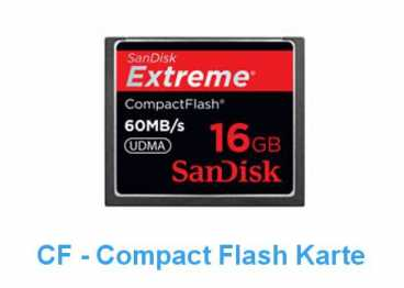 SanDisk CF  16 GB (60MB/s) EXTREME Compact Flash / 400x R+W)