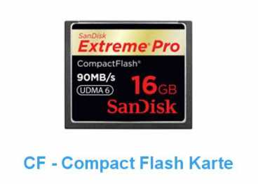 SanDisk CF  16 GB (90MB/s) EXTREME PRO Compact Flash / 600x R+W