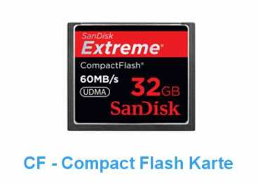 SanDisk CF  32 GB (60MB/s) EXTREME Compact Flash / 400x R+W)
