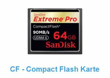 SanDisk CF  64 GB (90MB/s) EXTREME PRO Compact Flash / 600x R+W