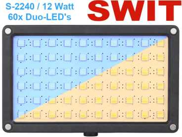 LED Kopflicht Bi-Color  60 DUO ultra bright SMD SWIT S-2240 - 12 Watt 3200-5600°K