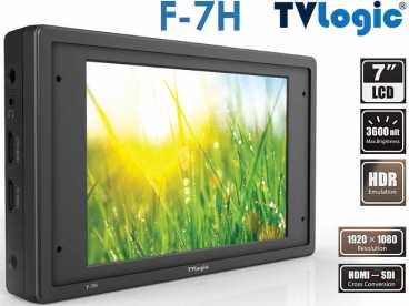7'' TVLogic F-7H Full-HD SDI-HDMI Kamera HDR Monitor mit Waveform Vectorscope