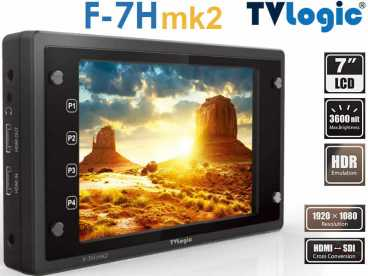 7'' TVLogic F-7H mk2 Full-HD SDI-HDMI Kamera HDR Monitor mit Presets Waveform Vectorscope