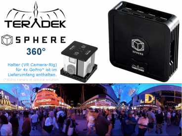 Teradek SPHERE 360 Grad 4x FullHD HDMI Real-Time iOS Monitoring