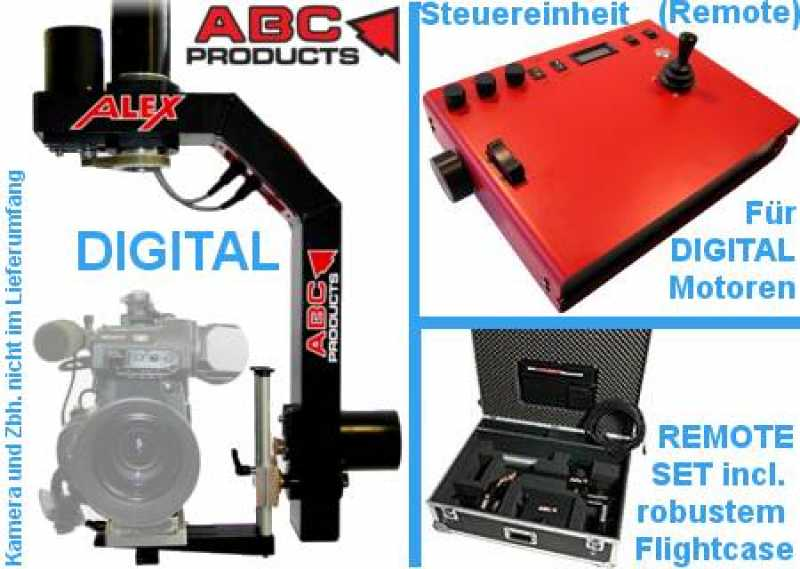 Remote Head ALEX digital ABC-Products Pan/Tilt{Kamera max.15 kg}