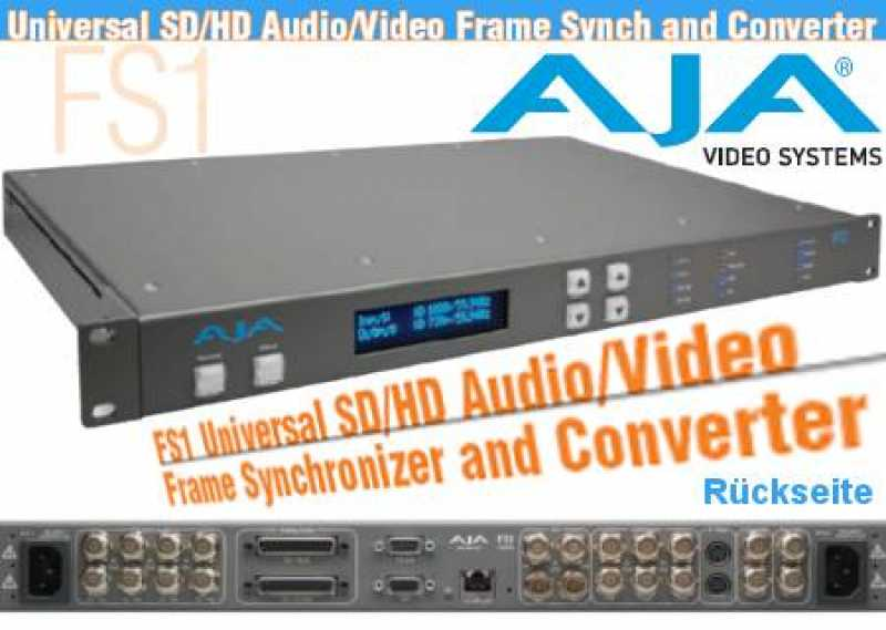 AJA FS 1 Universal FS1 SD/HD Audio/Video Frame Sync/Converter