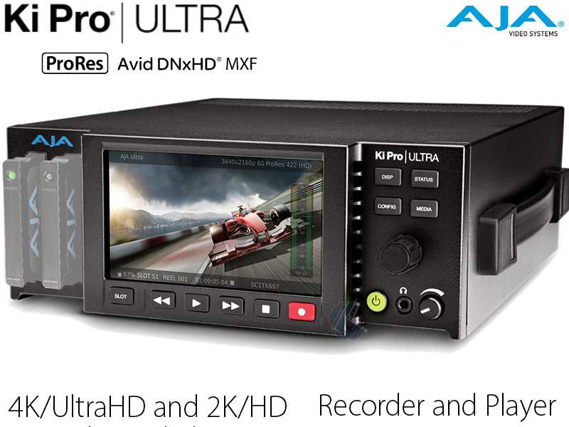 AJA Ki Pro Ultra  {4K-UltraHD 2K-HD Recorder und Player bis 4K60p}
