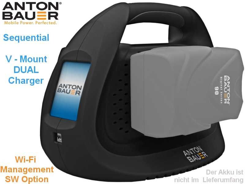 V-Mount Anton Bauer Performance sequent. DUAL Charger{LCD Touch}
