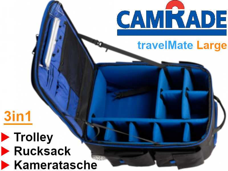 CamRade travelMate LARGE 3in1 - Rucksack | Trolley | Kameratasche