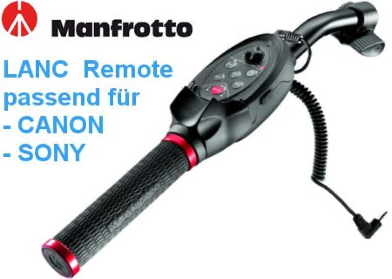 Manfrotto Zoomgriff MVR901EPLA LANC Fernbedienung Sony;Canon