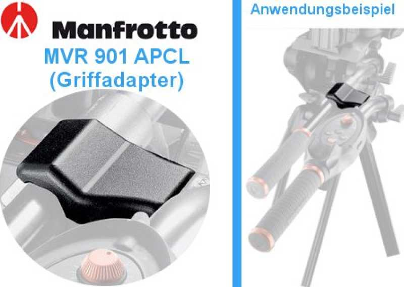 Manfrotto Zoomgriff Zubehör MVR901APCL Griffadapter f. Zoomgriff