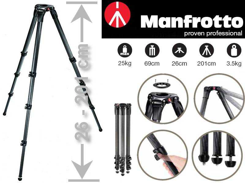 Manfrotto MA 536 Karbon MPRO VIDEO STATIV (75/100 mm Halbschale)