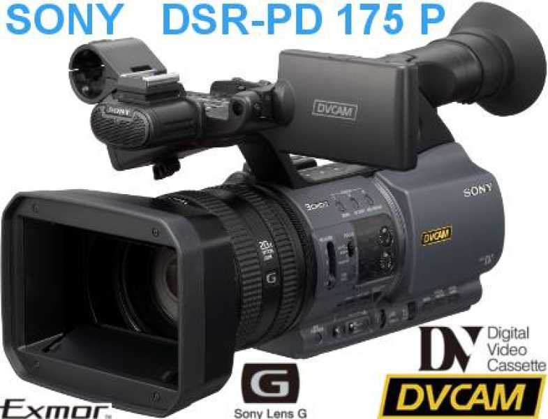 "SONY DSR-PD 175 P (1/3"" 3 CMOS Camcorder/DVCAM/DV/PD175)"